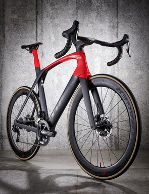 The Trek Madone SLR 9 is a super-fast aero bike that offers all-day comfort