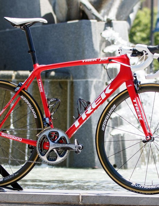 Built to weigh less, Hesjedal prefers his 6.8kg Trek Emonda for the climbs