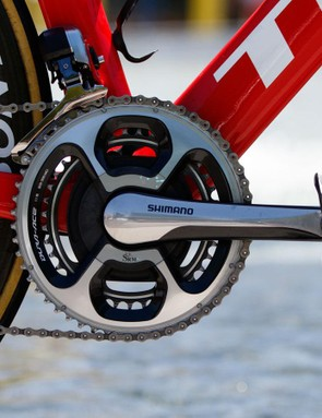 There was an SRM fitted to Hesjedal's Madone