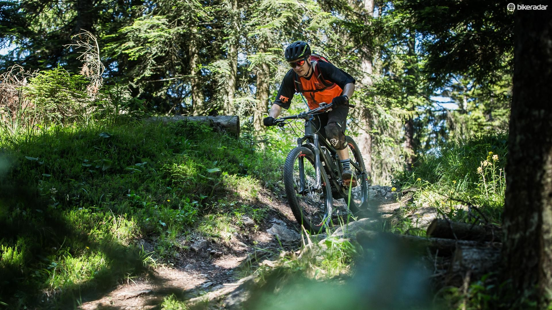 Our test ride took us on a long day out in the Swiss Alps, which would have proved brutal on a regular trail bike