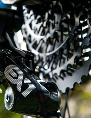 We weren't totally sold on SRAM's 8spd EX1 e-MTB-specific group, but it certainly helps get you up the hills