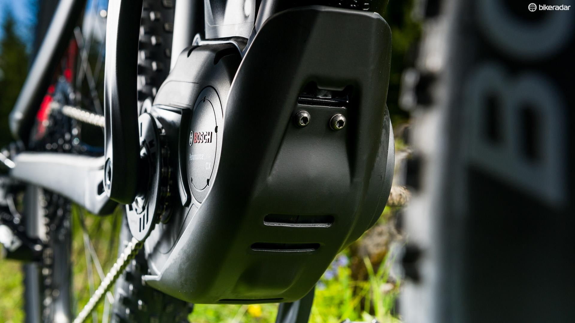 The Bosch Performance CX pedal-assist motor pumps out up to 250W of extra juice