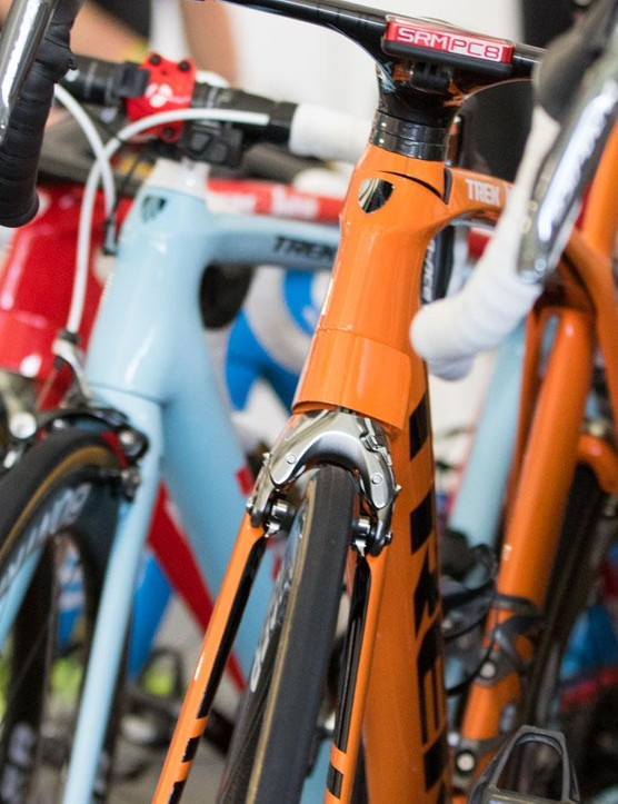 Each member of the Trek-Segafredo team at the Tour Down Under is riding a special Project-One bike in the colours of their respective country