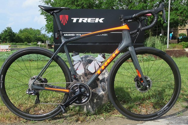 Trek's new Emonda SLR9 Project One Disc, with Dura-Ace Di2 and Aeolus 3 TLR carbon clinchers