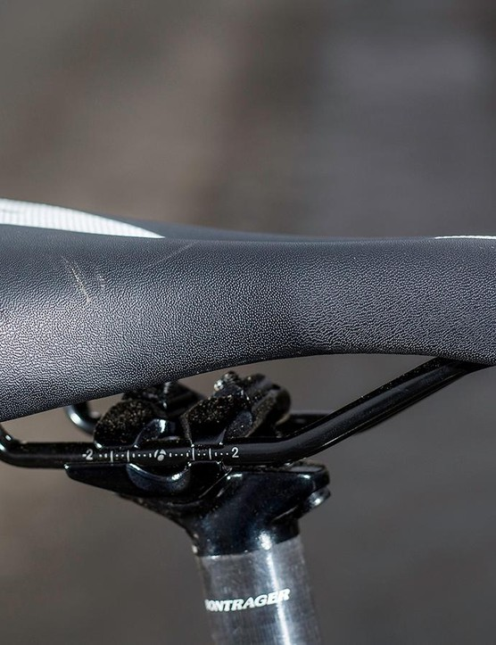 Its clever design replicates the 'hover just above the saddle' technique that powerful riders use on cobbles