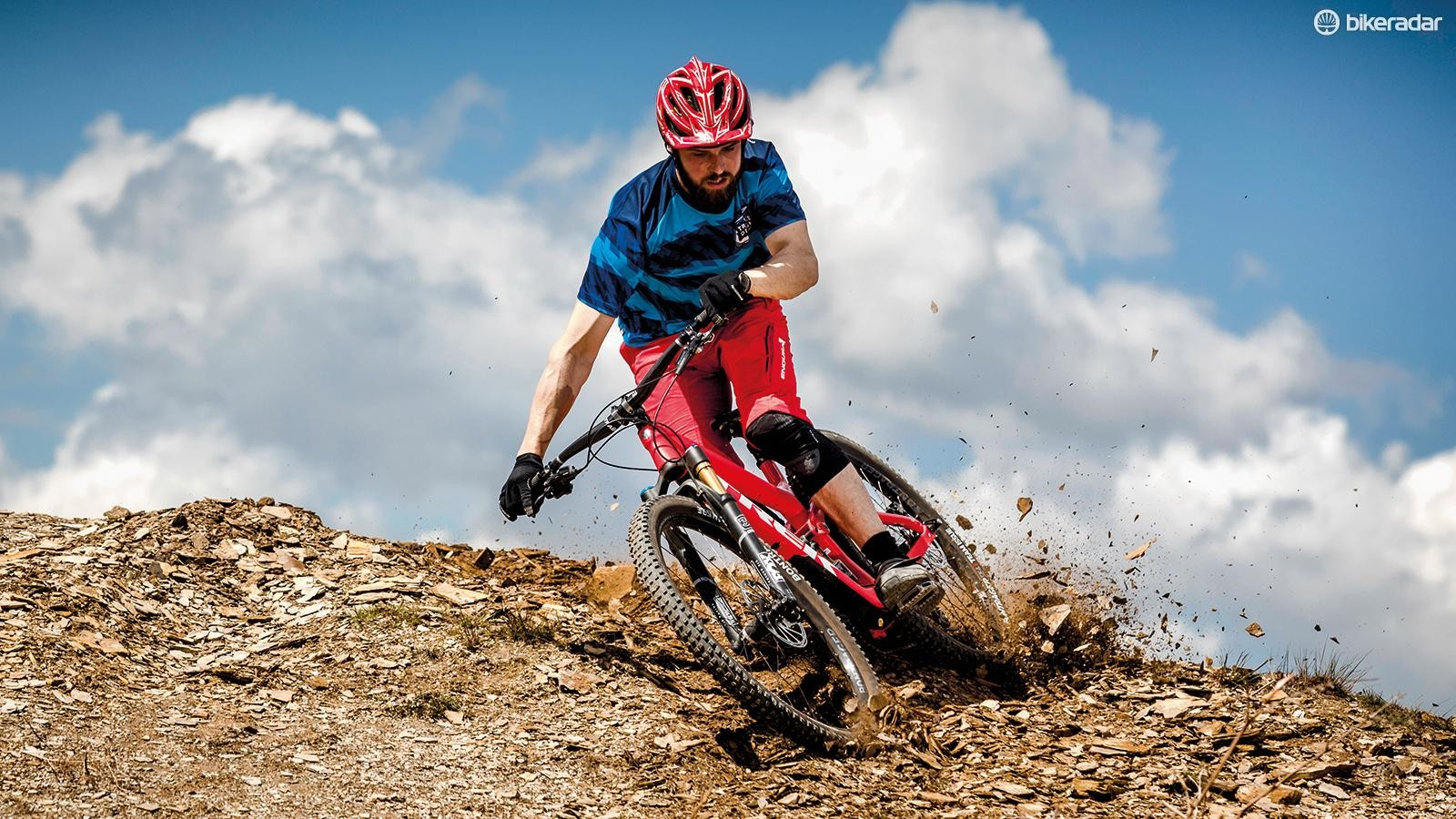 The Slash is genuinely DH bike fast in how it carries speed through roots, rocks, wheel-eating holes and stepdowns