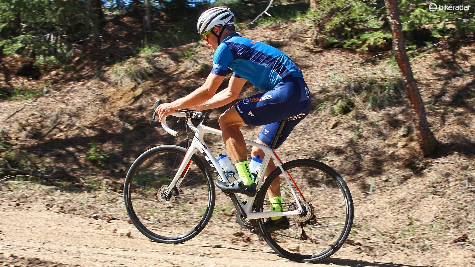We're testing out Trek's Domane SLR 7 Disc on tarmac, gravel, and every bumpy, busted-up road in between