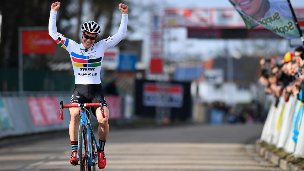 Equal payout will mean a lot to women, especially 23x World Cup winner Katie Compton