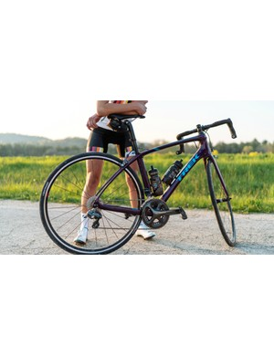 The new Trek Silque SLR 7, with features including a women's-specific road tune, and IsoSpeed decouplers front and rear