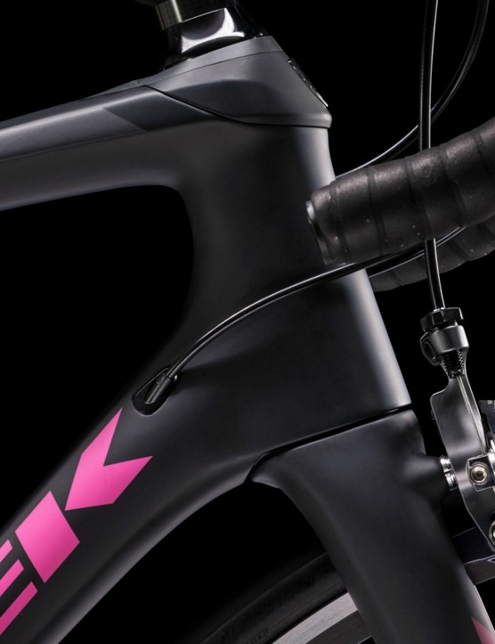 The new Silque SLR features an IsoSpeed decoupler at the steerer tube as well as the seat tube, giving, Trek claims, the most comfortable endurance road bike yet