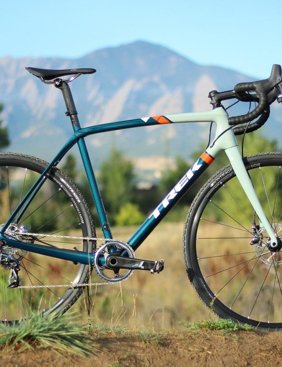 The Trek Boone 7 Disc features SRAM's clutch-derailleur Force CX1 group on the IsoSpeed frame