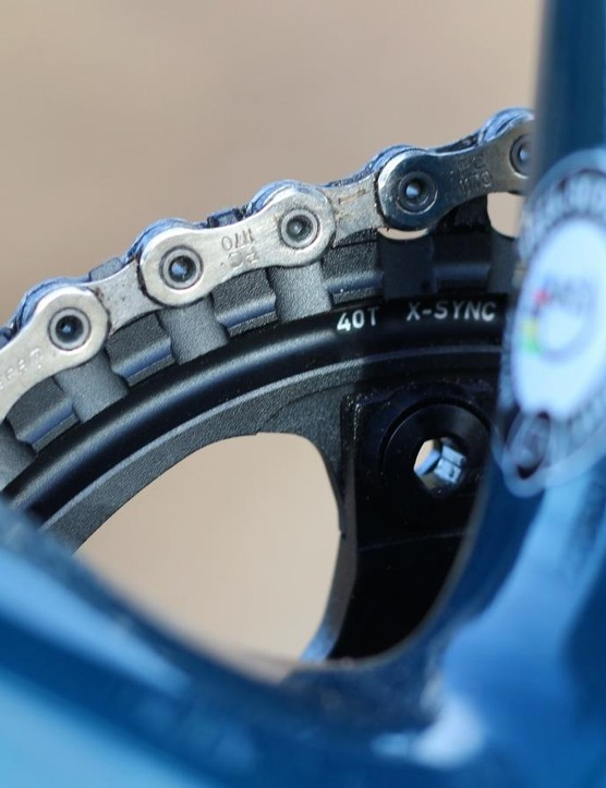Stock configuration on the Boone 7 is a 40t ring with an 11-28t cassette