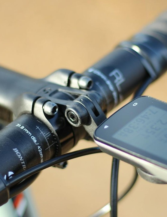 The integrated Garmin holder is a slick touch