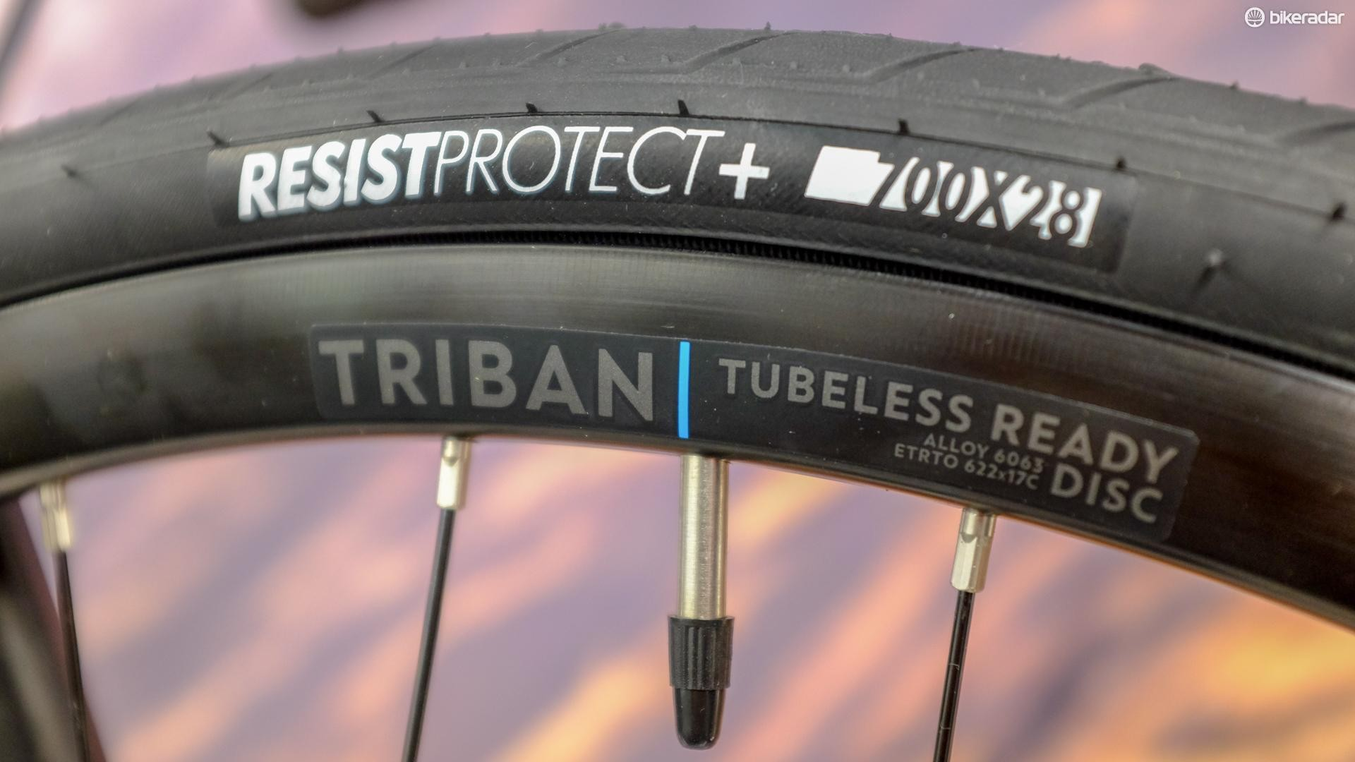 The new Tribans ship with tubeless-ready wheels as standard