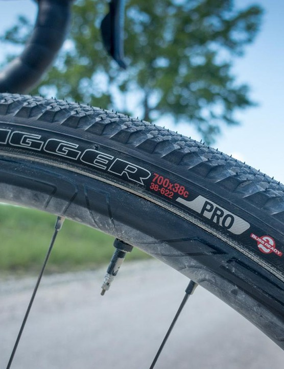 The 38mm-wide Trigger Pro tires proved swift and durable