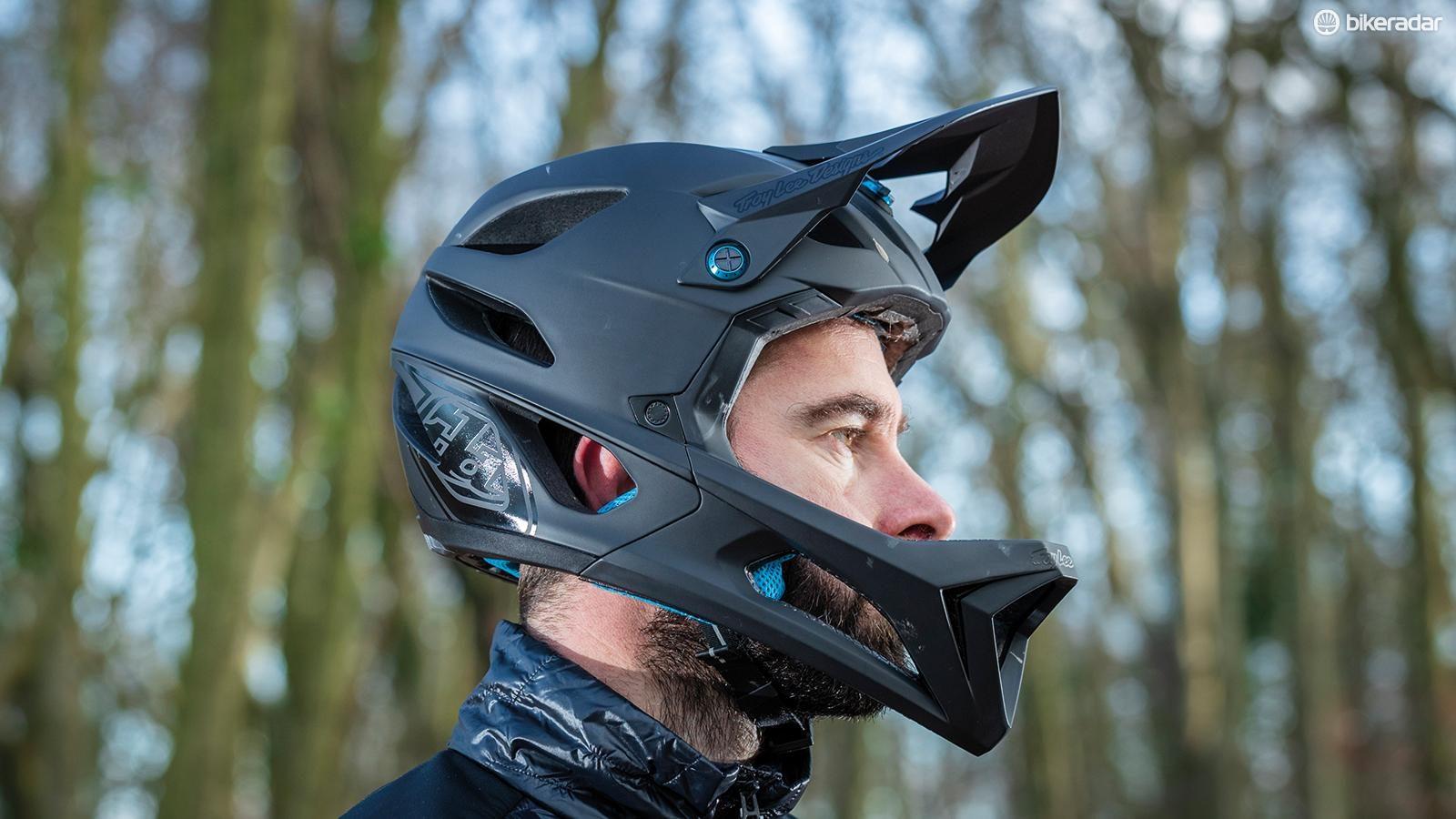 Fox Racing Flux Helmet Race Black//Red