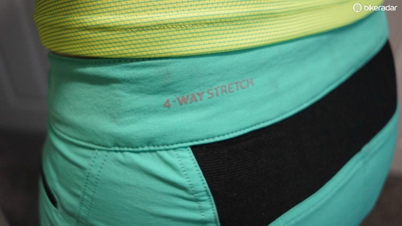 Four-way stretch and an added Spandex panel make these shorts super comfortable