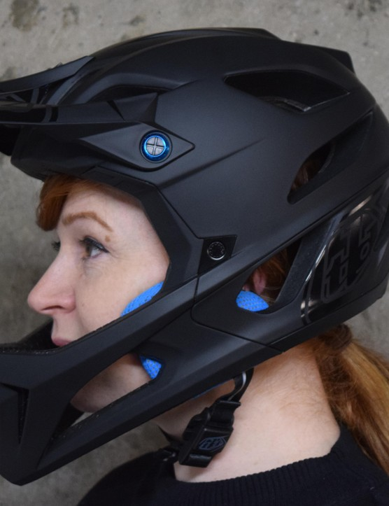 This version of the Stage helmet is surprisingly understated for Troy Lee