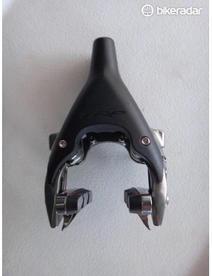 For time trials, triathlon and aero road bikes, TPR's T860 direct mount front brake is an enticing option. It features independent arm adjustment to quickly accommodate rims of varying width.
