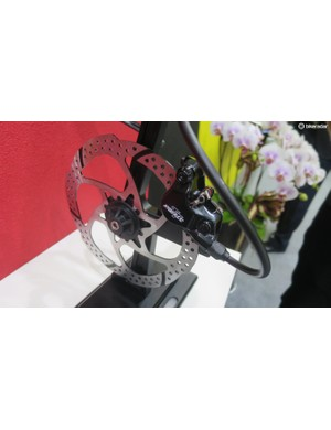 The caliper is based on the existing Hylex, but with heat managing Hybrid pistons