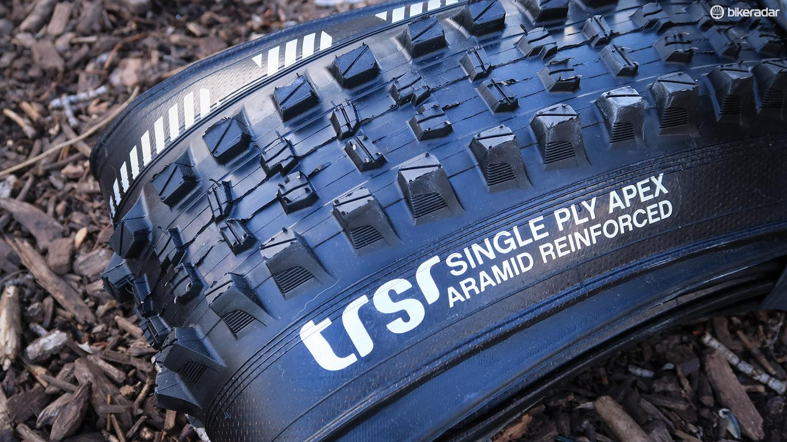 The e*thirteen TRSr is super sticky and has an additional layer of sidewall protection