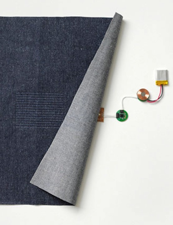 The 'brains' of the jacket is hidden in a chip smaller than a button, which can be removed for washing