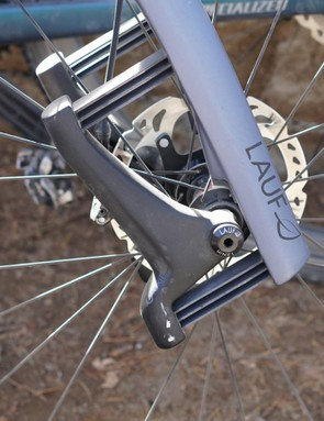 It's only 30mm of maximum suspension in the leaves, but it's just about perfect for gravel