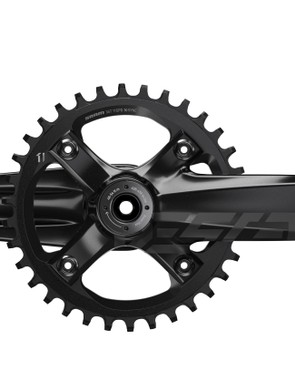 The Descendant DH crank uses the same profile as the standard Descendant, but with a four-bolt chainring instead of a direct mount item