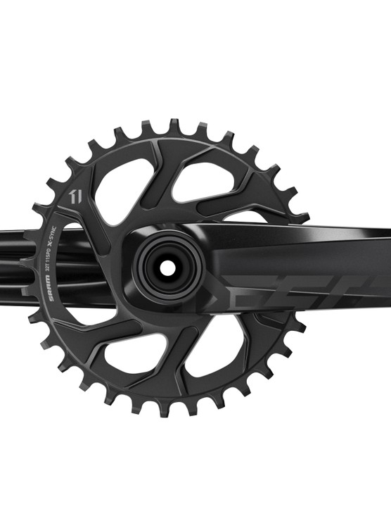Made for trail and enduro riders who require strength on a budget, the alloy Descendant crankset uses a direct mount ring to keep weight down