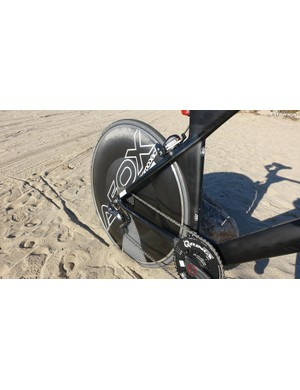 The AeroCoach AEOX Carbon Tubeless Disc was a perfect choice for the TT. It's fast, aero and stable in crosswinds