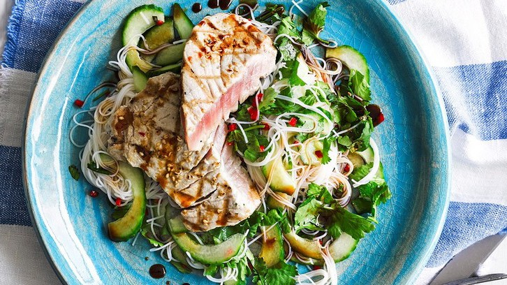 A tuna steak is easily as satisfying as a beef steak, if prepared well