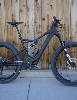 From even a small distance, Specialized's Turbo Levo FSR looks like a normal mountain bike, albeit one with a large down tube