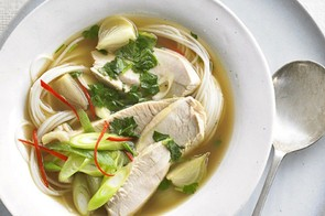 This soup is full of fresh flavours to help you cut through that cheese and carbohydrate coma