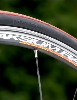 Wheel/Tyre combination is unusually light for a bike at this price