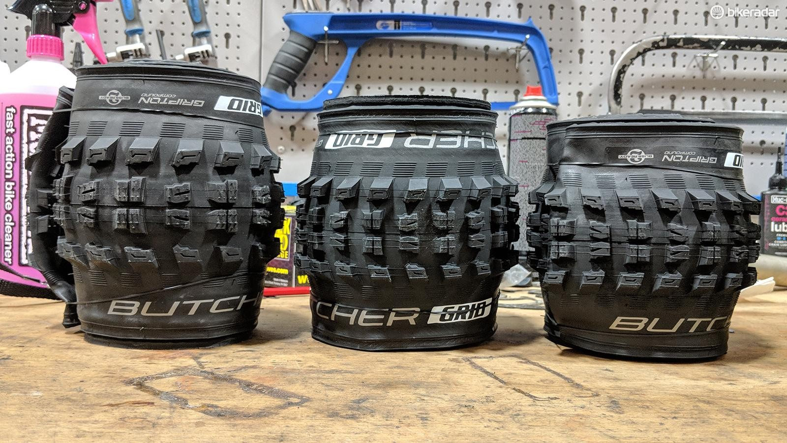 """The tyres on test: Specialized's Butcher Grid in 2.3"""", 2.6"""" and 2.8"""" sizes"""