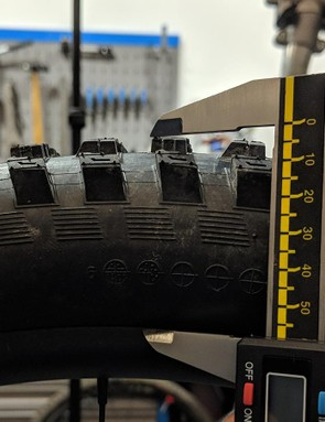 The vertical depth of the tyre dictates its bump-absorbing capacity. (This is not how the depth was measured)