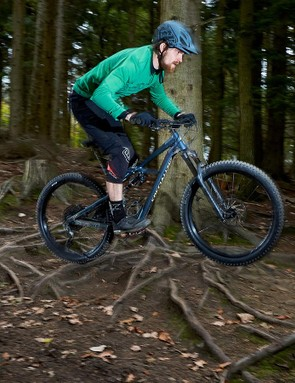 The bigger tyres were noticeably smoother and significantly faster over rooty sections