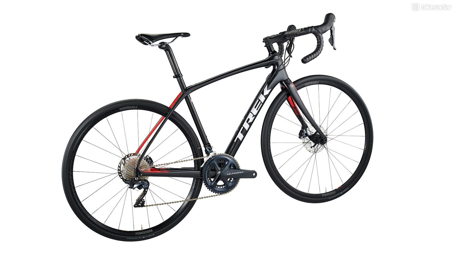 The unisex frame is the same as others within the Trek Domane range, but the women's bike has sex- and size-specific finishing kit