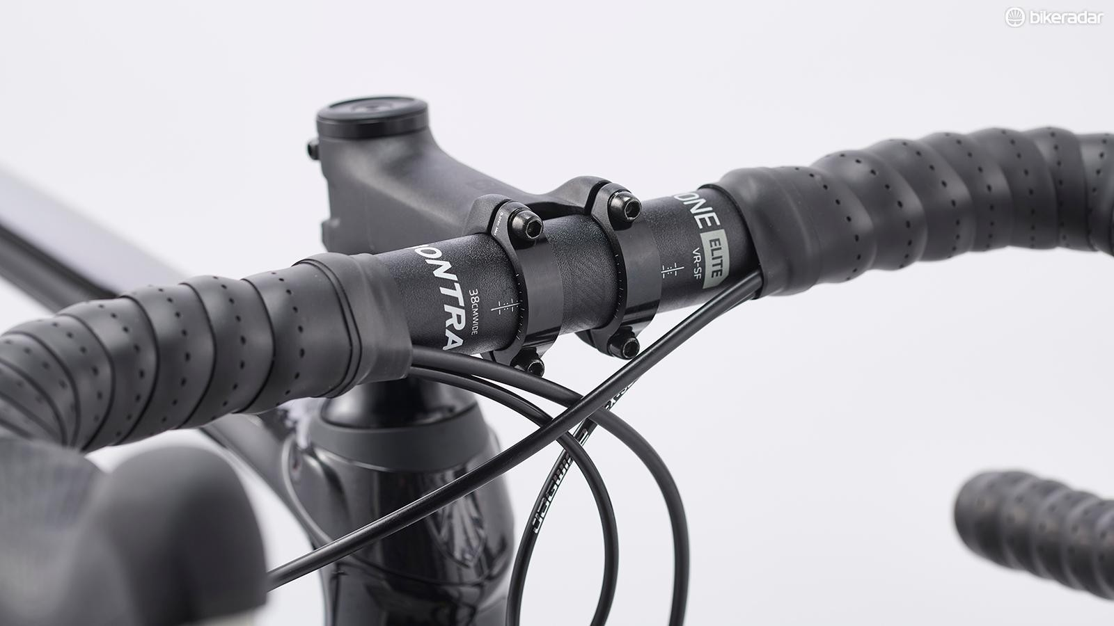 Foam pads built into the handlebars help to absorb road chatter