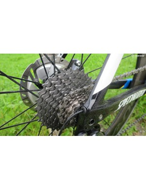 Ultegra offers a much wider spread of cassette, right up to a super-wide 11-34t