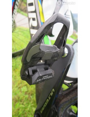 The new Ultegra pedals are much slimmer than previous models