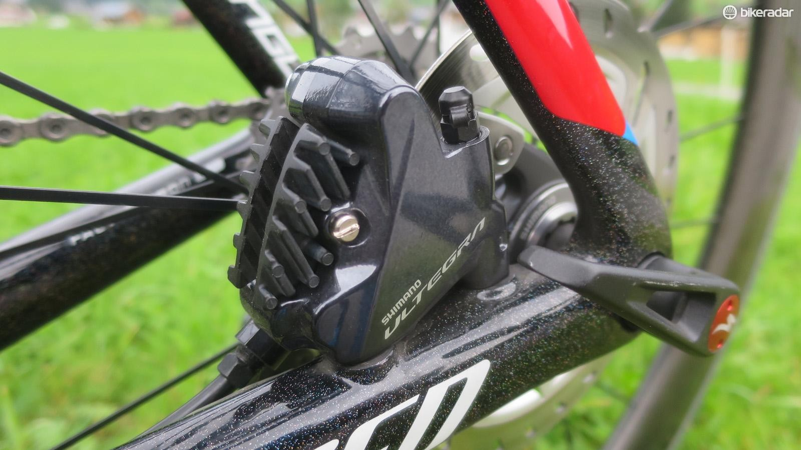 Ultegra has for the first time got hydraulic disc brakes bearing its name