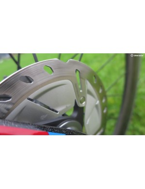 The new rotors use all of the same technology as their more expensive Dura-Ace cousins