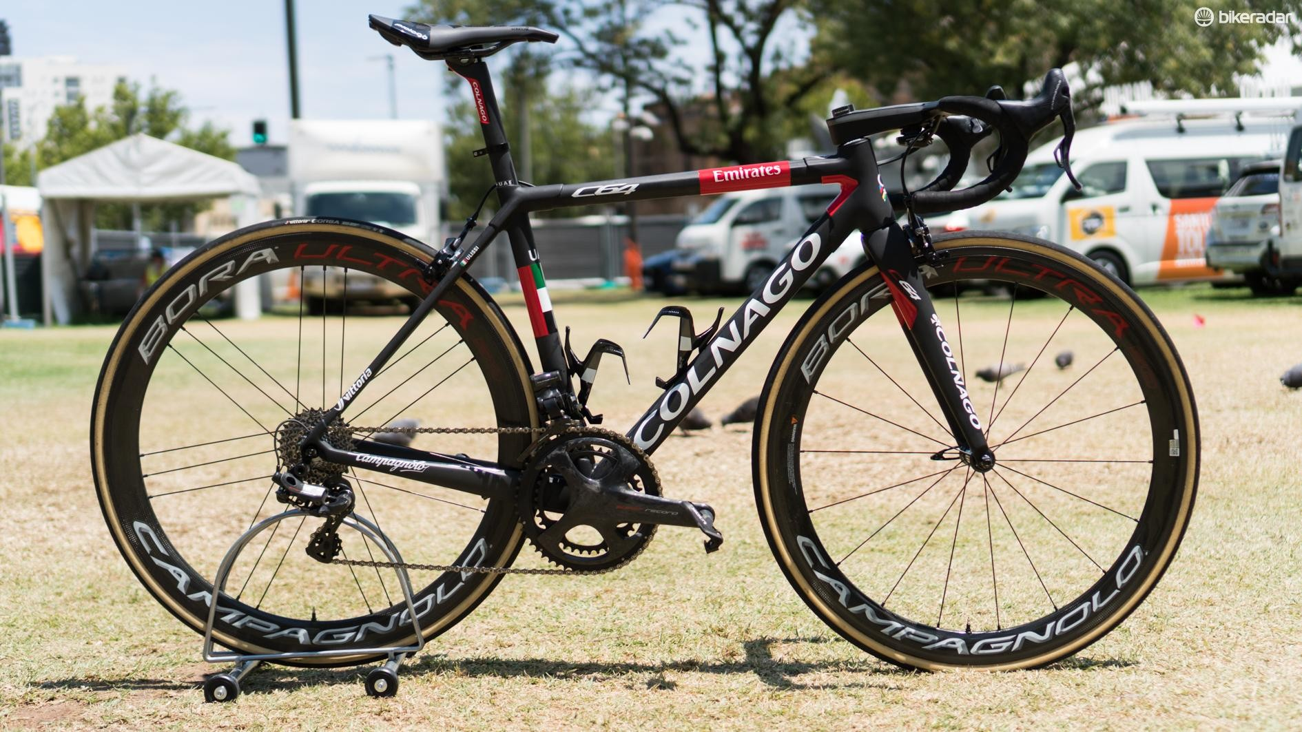 We take a closer look at Diego Ulissi's Colnago C64