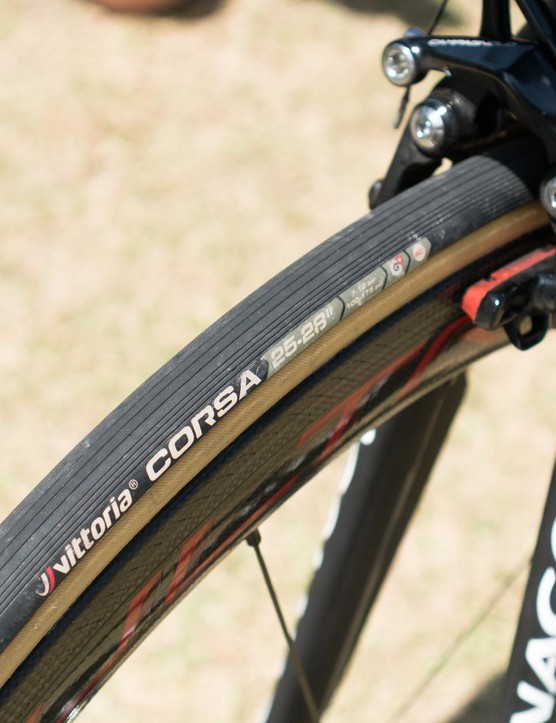 The bike rolls on Vittoria Corsa tyres