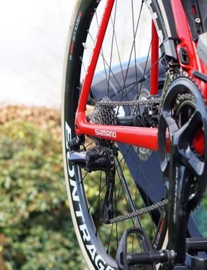 While SRAM's Force 1 clutch rear derailleur came out in 2014, it only works with a single front chainring. Shimano's design works with a front derailleur