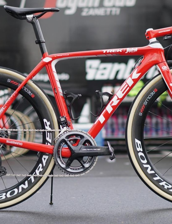 This is one of John Degenkolb's bikes for Paris-Roubaix, which he won in 2015