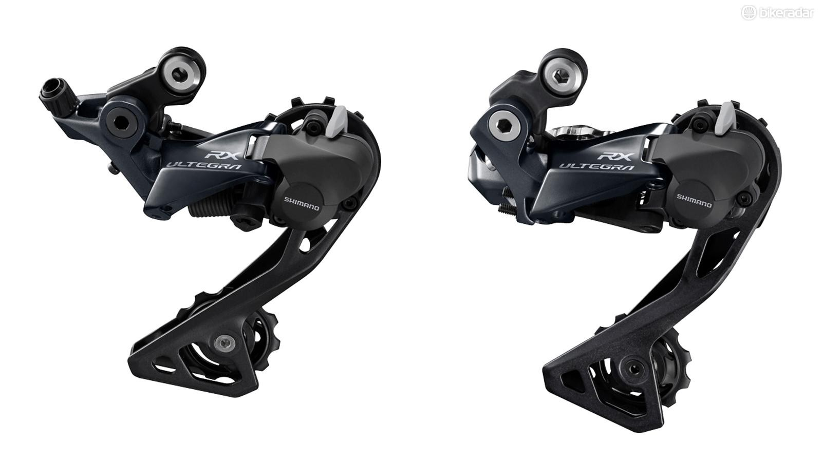 Shimano has officially launched the clutch-equipped Ultegra RX rear derailleurs for mechanical and Di2 drivetrains