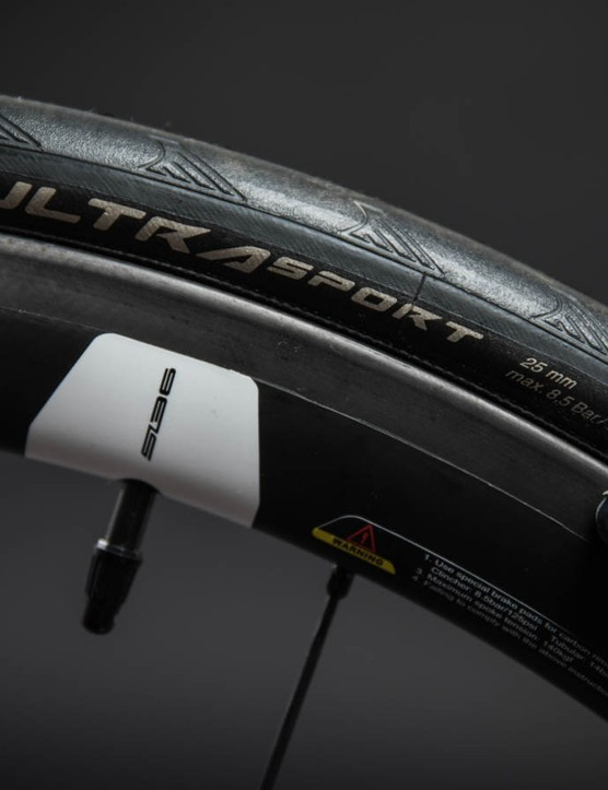 You've got a number of wheel and rubber choices, like these Continental UltraSport tyres