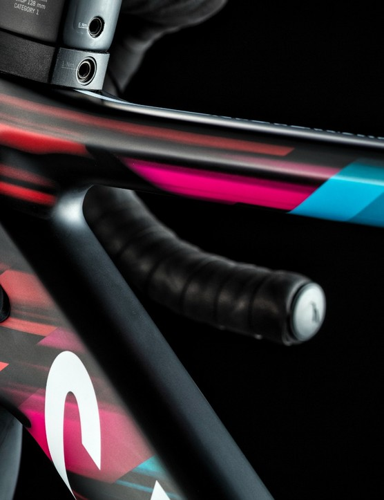 The frame tubing has been redesigned to give a more aerodynamic profile